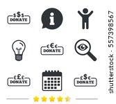 donate money icons. dollar ... | Shutterstock . vector #557398567