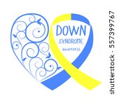 world down syndrome day. symbol ... | Shutterstock .eps vector #557399767
