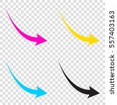 declining arrow sign. cmyk...