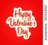 happy valentine's day | Shutterstock .eps vector #557415007