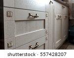 retro metal cabinet knobs in... | Shutterstock . vector #557428207