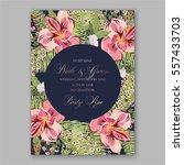 alstroemeria wedding invitation ...   Shutterstock .eps vector #557433703