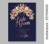 alstroemeria wedding invitation ... | Shutterstock .eps vector #557434033