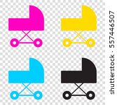 pram sign illustration. cmyk...