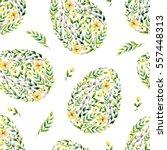 watercolor yellow seamless... | Shutterstock . vector #557448313