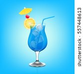 blue lagoon cocktail | Shutterstock .eps vector #557448613