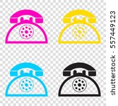 retro telephone sign. cmyk...