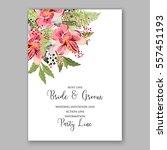 alstroemeria wedding invitation ... | Shutterstock .eps vector #557451193