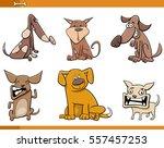 cartoon illustration of dogs... | Shutterstock .eps vector #557457253