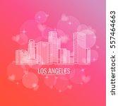 down town american landscape...   Shutterstock .eps vector #557464663