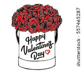 happy valentines day card with...   Shutterstock .eps vector #557465287