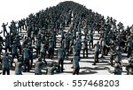 a large crowd of zombies.... | Shutterstock . vector #557468203