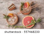 cocktails with grapefruit... | Shutterstock . vector #557468233