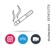 smoking allowed icon. yes smoke ... | Shutterstock .eps vector #557471773
