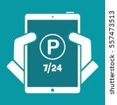 steady parking service 24 7  ... | Shutterstock .eps vector #557473513