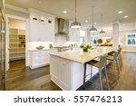 white kitchen design features... | Shutterstock . vector #557476213