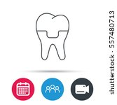 dental crown icon. tooth... | Shutterstock .eps vector #557480713