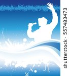 poster for music concert and... | Shutterstock .eps vector #557483473