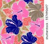 vector seamless pattern of... | Shutterstock .eps vector #557490697