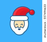 smile santa claus character of... | Shutterstock .eps vector #557494633