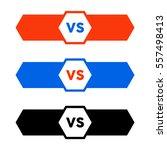 versus letters fight logo... | Shutterstock .eps vector #557498413