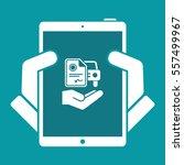 car document services   minimal ... | Shutterstock .eps vector #557499967