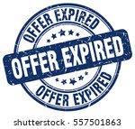 offer expired. stamp. blue... | Shutterstock .eps vector #557501863