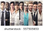 montage of business people  | Shutterstock . vector #557505853