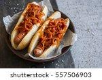 hot dog with new york street... | Shutterstock . vector #557506903
