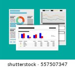financial reports and documents.... | Shutterstock .eps vector #557507347