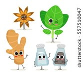adorable collection of five... | Shutterstock .eps vector #557510047