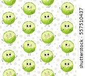 cabbage  vector seamless... | Shutterstock .eps vector #557510437