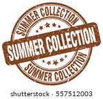 summer collection. stamp. brown ... | Shutterstock .eps vector #557512003