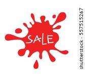sale red splat isolated | Shutterstock .eps vector #557515267