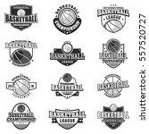 basketball black monochrome... | Shutterstock .eps vector #557520727