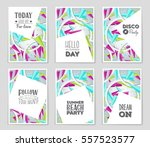 abstract vector layout... | Shutterstock .eps vector #557523577