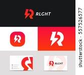 creative r letter logo icon... | Shutterstock .eps vector #557526577