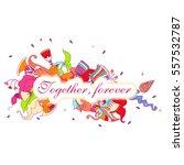 valentines day illustration....   Shutterstock .eps vector #557532787
