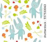 cartoon pattern with animals... | Shutterstock .eps vector #557533063