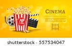 movie film banner design... | Shutterstock .eps vector #557534047