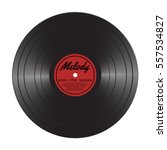 vinyl lp record disc. black... | Shutterstock .eps vector #557534827