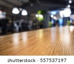 table top counter blurred bar... | Shutterstock . vector #557537197