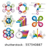 collection infographics. design ... | Shutterstock .eps vector #557540887