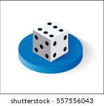 dice  isometric icon. isolated... | Shutterstock .eps vector #557556043