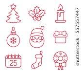 christmas xmas new year winter... | Shutterstock .eps vector #557557447