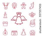 christmas xmas new year winter... | Shutterstock .eps vector #557557453