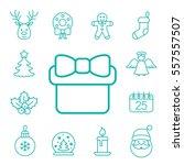 christmas xmas new year winter... | Shutterstock .eps vector #557557507