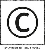 copyright symbol    black... | Shutterstock .eps vector #557570467