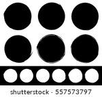set of textured  rough and... | Shutterstock .eps vector #557573797