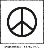 peace sign    black vector icon | Shutterstock .eps vector #557574973